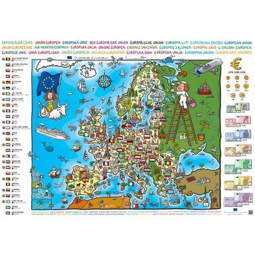 Kaart van de Europese Unie voor het basisonderwijs