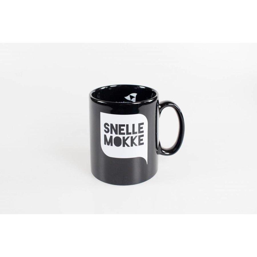 Koffiemok Zwart - 'Snelle Mokke'-2