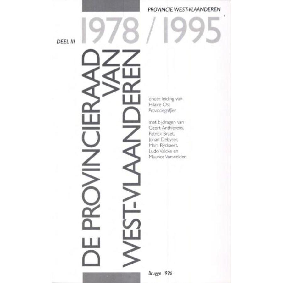 De provincieraad van West-Vlaanderen 1978 - 1995-1