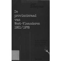 De provincieraad van West-Vlaanderen 1921 - 1978