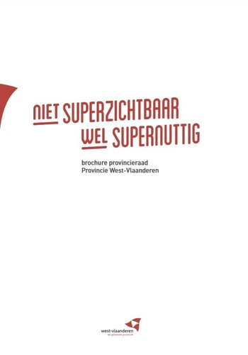 Brochure provincieraad West-Vlaanderen