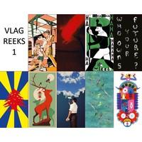 thumb-Postkaarten Vlaggen langs groene assen-1