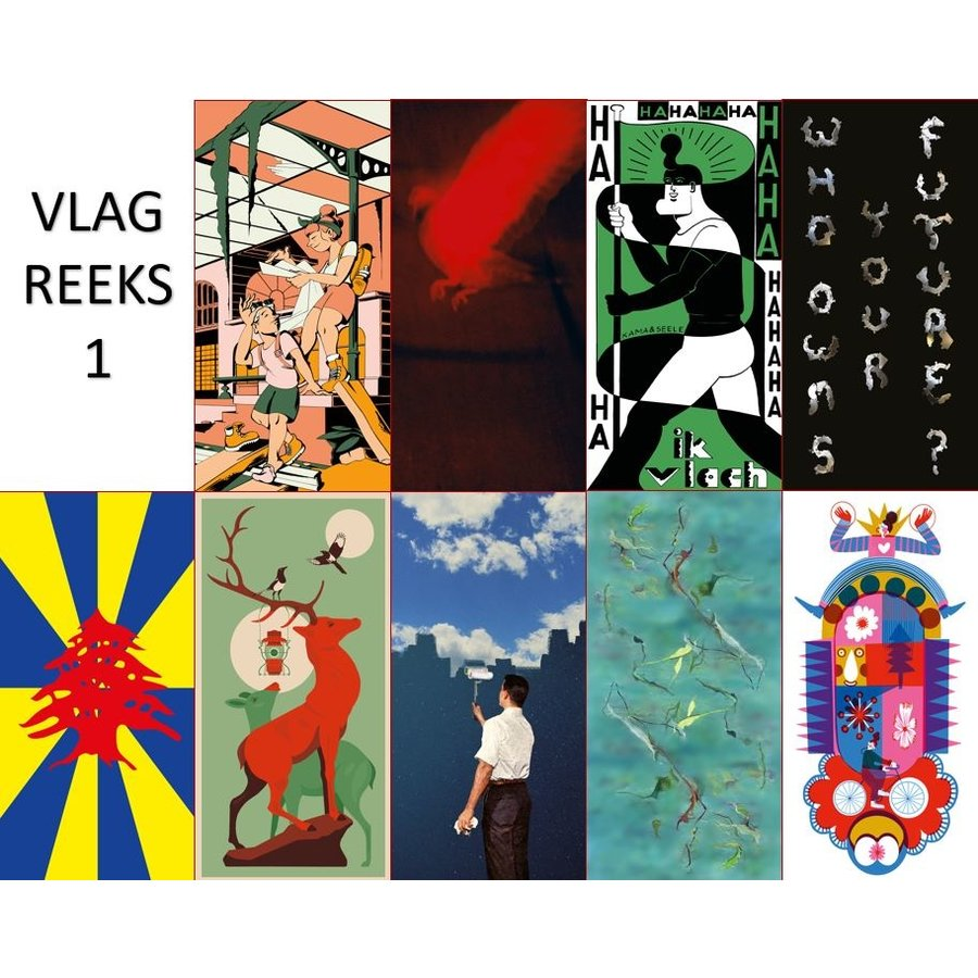 Postkaarten Vlaggen langs groene assen-1