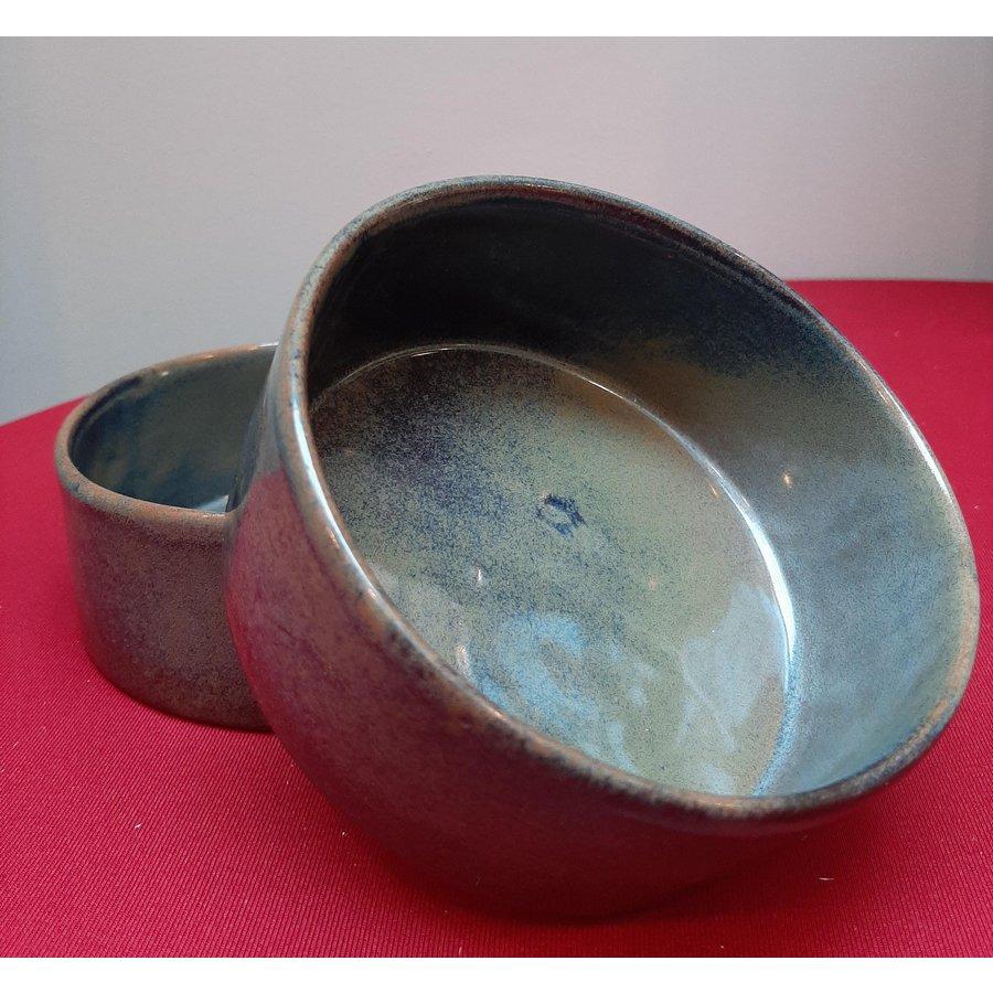 Kom keramiek blauw-grijs-1