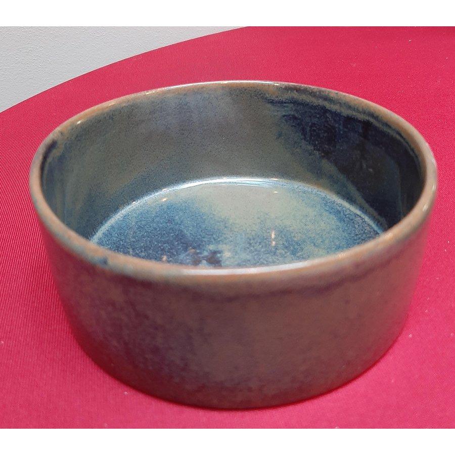 Kom keramiek blauw-grijs-2