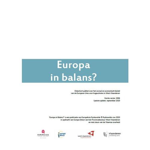 Educatief pakket 'Europa in balans'