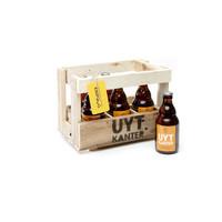 Houten bierbakje met 6 Uytkantertjes