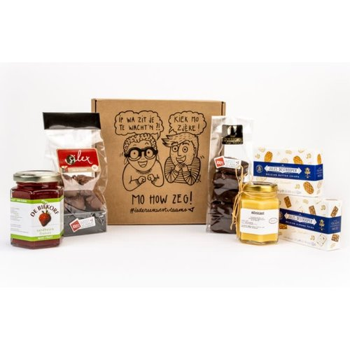 Zoete box met streekproducten