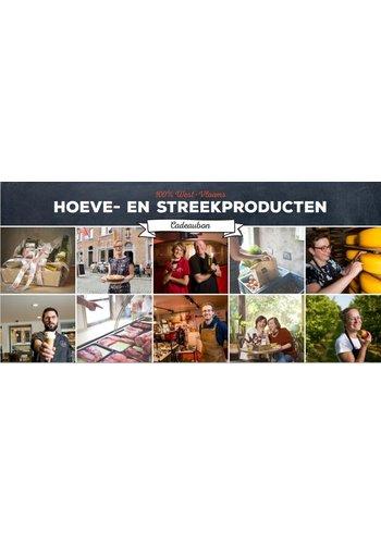 Cadeaubon geschenkmand 100%West-Vlaams