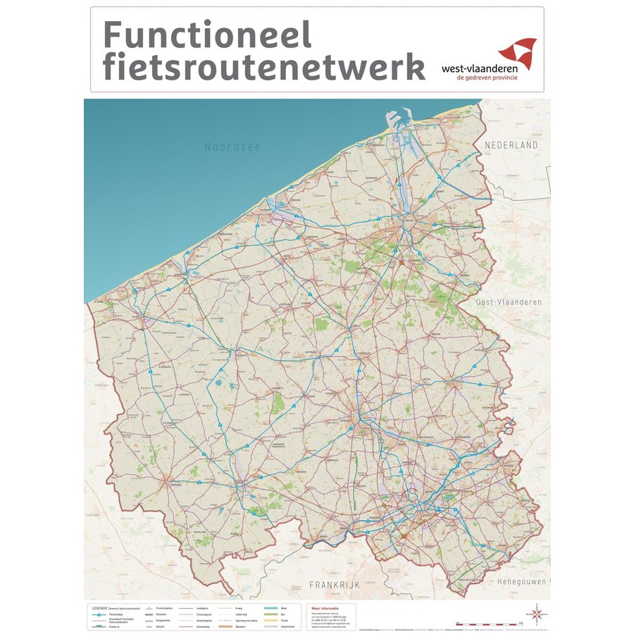 Kaart West-Vlaanderen – Functionele fietsroutekaart-1