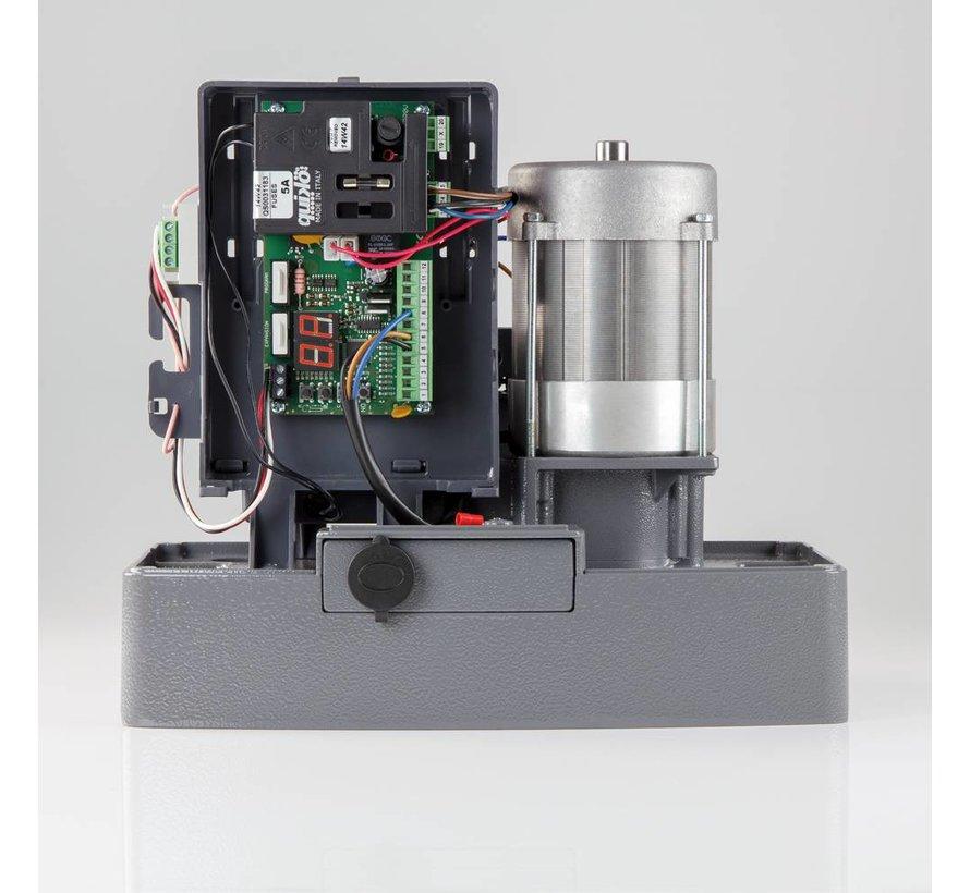 MOOVY M2000 is een zwaar uitgevoerde, robuuste en betrouwbare schuifpoortopener tot 2.000 kg
