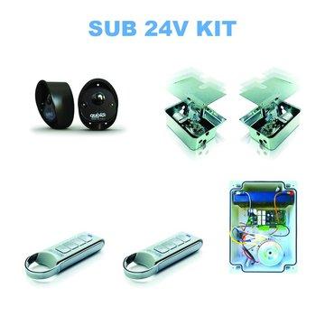 Quiko SUB ondergrondse automatische poortautomatisatie 24VDC KIT 3,5 m