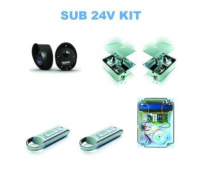 Quiko SUB is de top in de poortautomatisatie voor ondergrondse poortopeners voor onzichtbare installaties IP67 op 24V