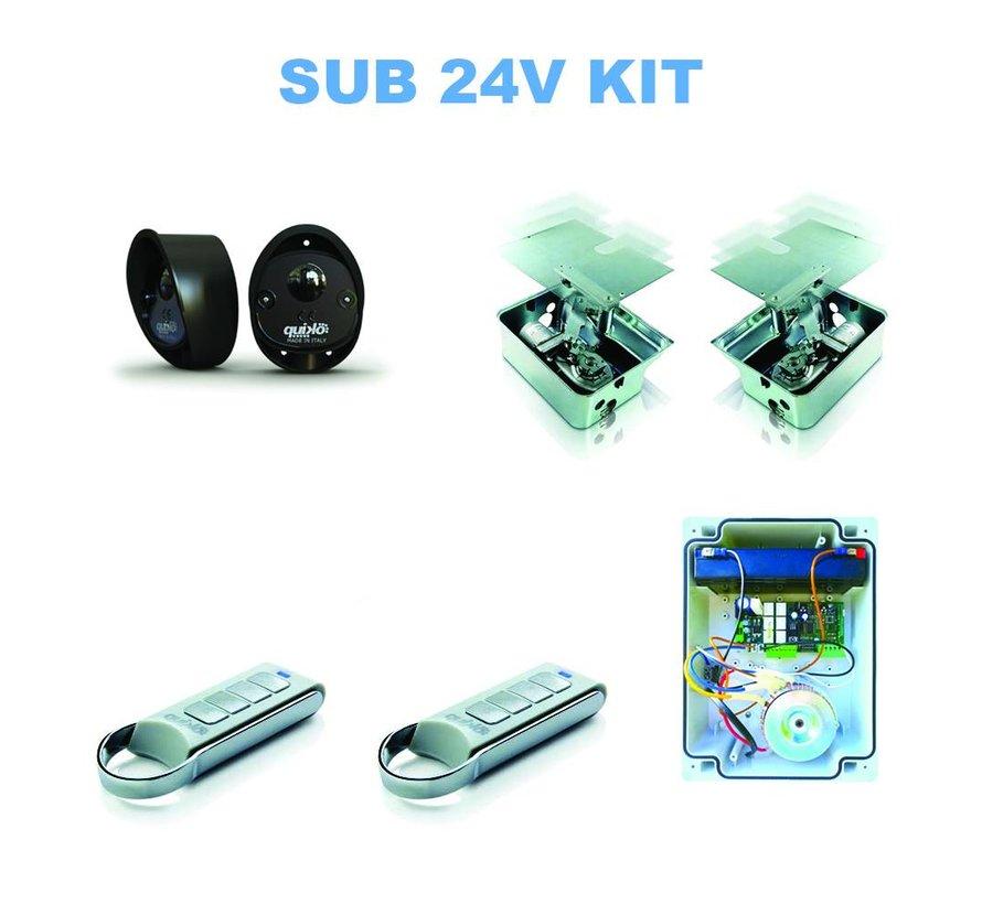 SUB is de top in de poortautomatisatie voor ondergrondse poortopeners voor onzichtbare installaties IP67 op 24V