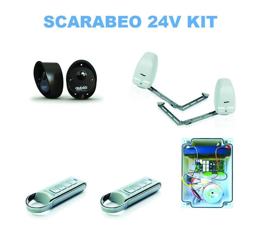 SCARABEO is de universele knikarm poortopener voor automatisering van poorten en montage op dikke gemetselde kolommen