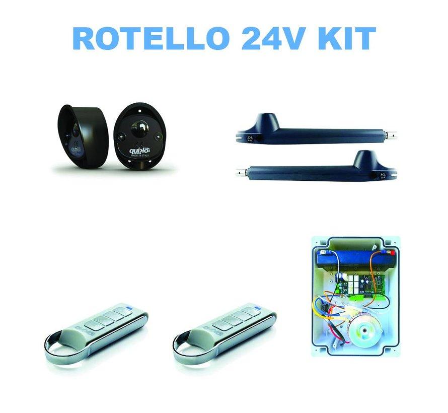 ROTELLO QK-R400B is de heavy-duty versie van de automatische poortopeners voor het automatiseren van draaipoorten op 24VDC