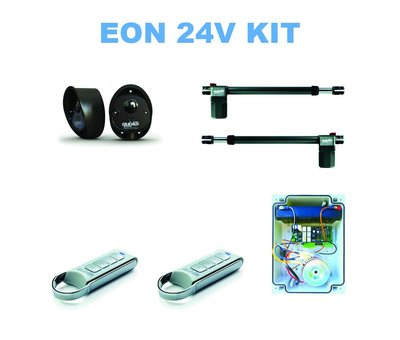 Quiko EON E400B op 24VDC voor elektrisch automatisern van uw draaipoorten is optioneel leverbaar met backup batterij