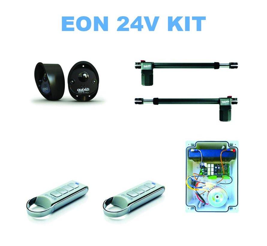 EON E400B op 24VDC voor elektrisch automatisern van uw draaipoorten is optioneel leverbaar met backup batterij
