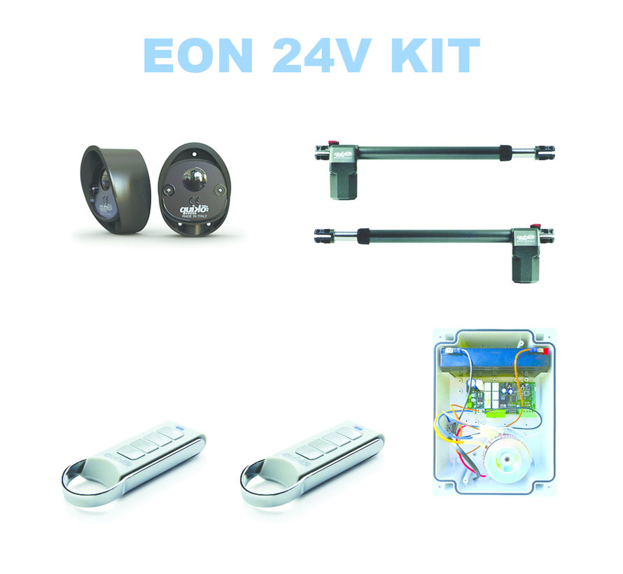 EON E400BFX is de high speed automatische poortopener op 24VDC optioneel leverbaar met backup batterij