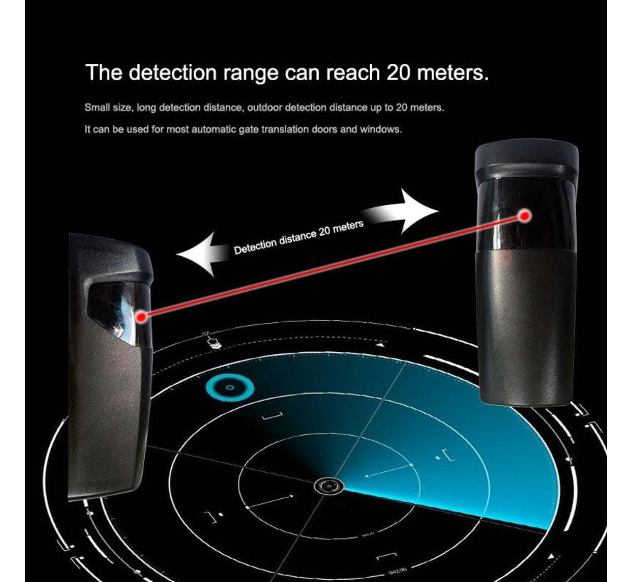 Q-180 Infra Rood fotocellen  - draaibaar 180° - op batterij