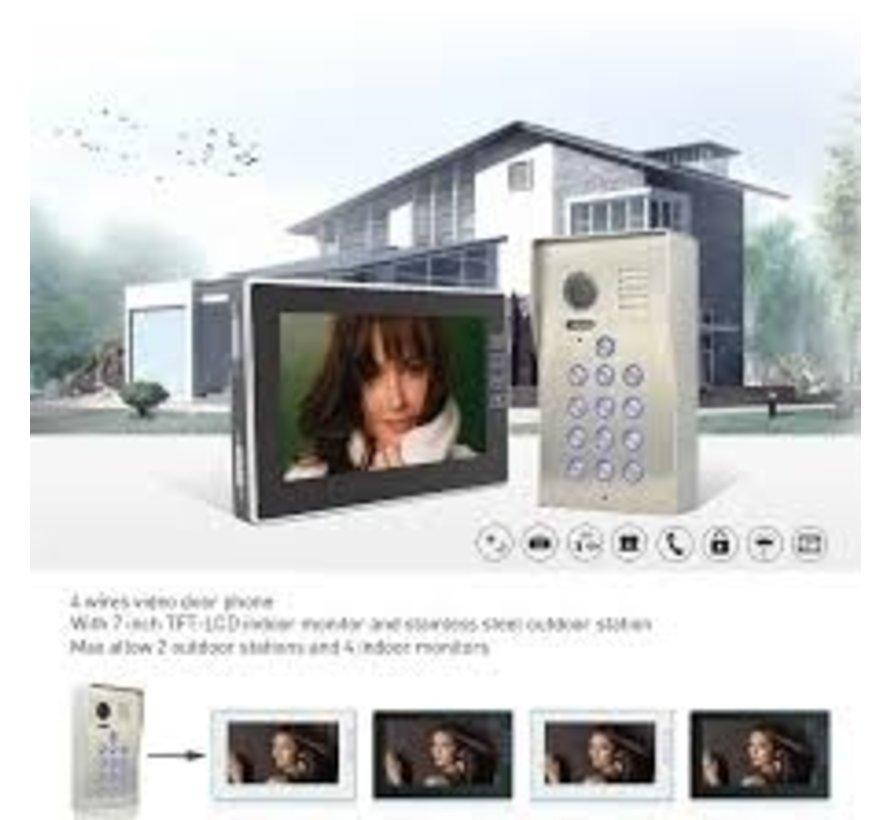 Videofoon Vision126 met codeklavier