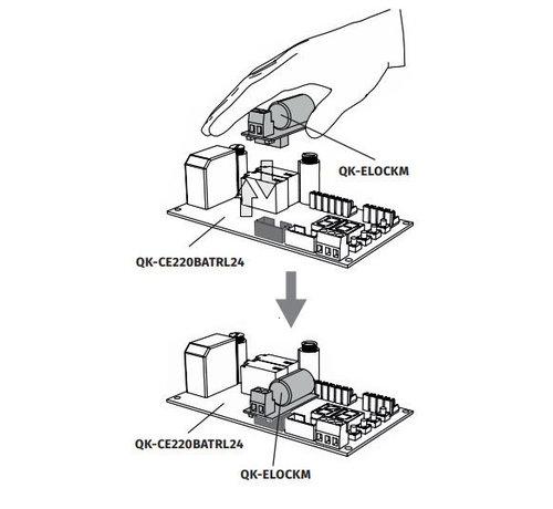 Quiko Printplaat QK ELOCKM voor sturing poortslot ELS  met connector