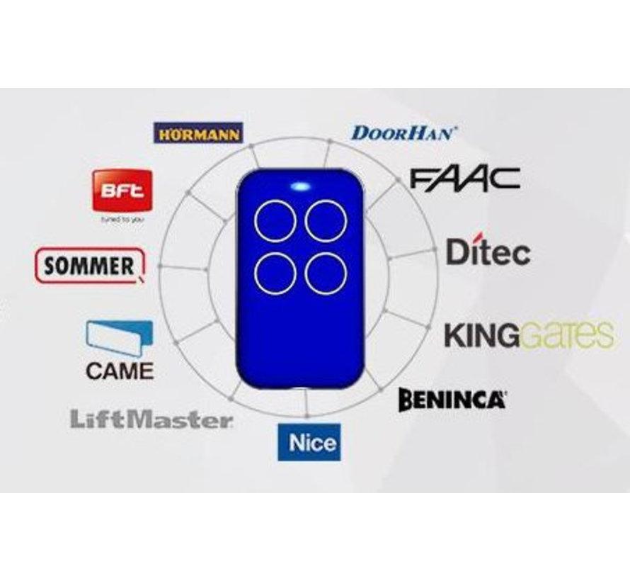4-kanaals UNIVERSELE radio afstandsbediening 433,92 MHz met vaste of rolling code - 3-pack set