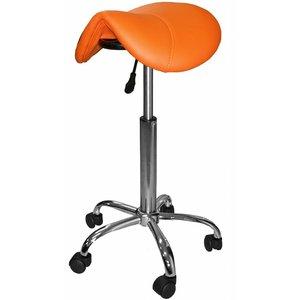 Saddle stool orange