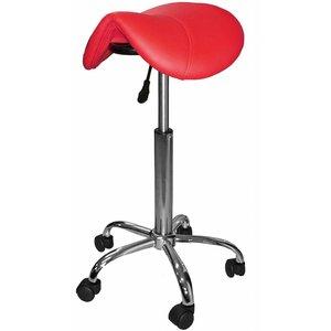 Saddle stool red