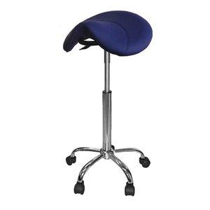 Saddle stool blue