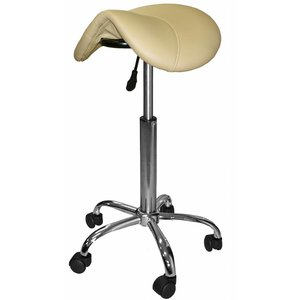 Saddle stool beige