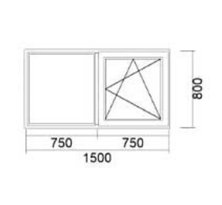 Dakkapel kozijn 150x80