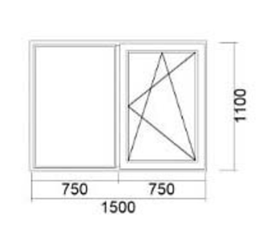Dakkapel kozijn 150x110