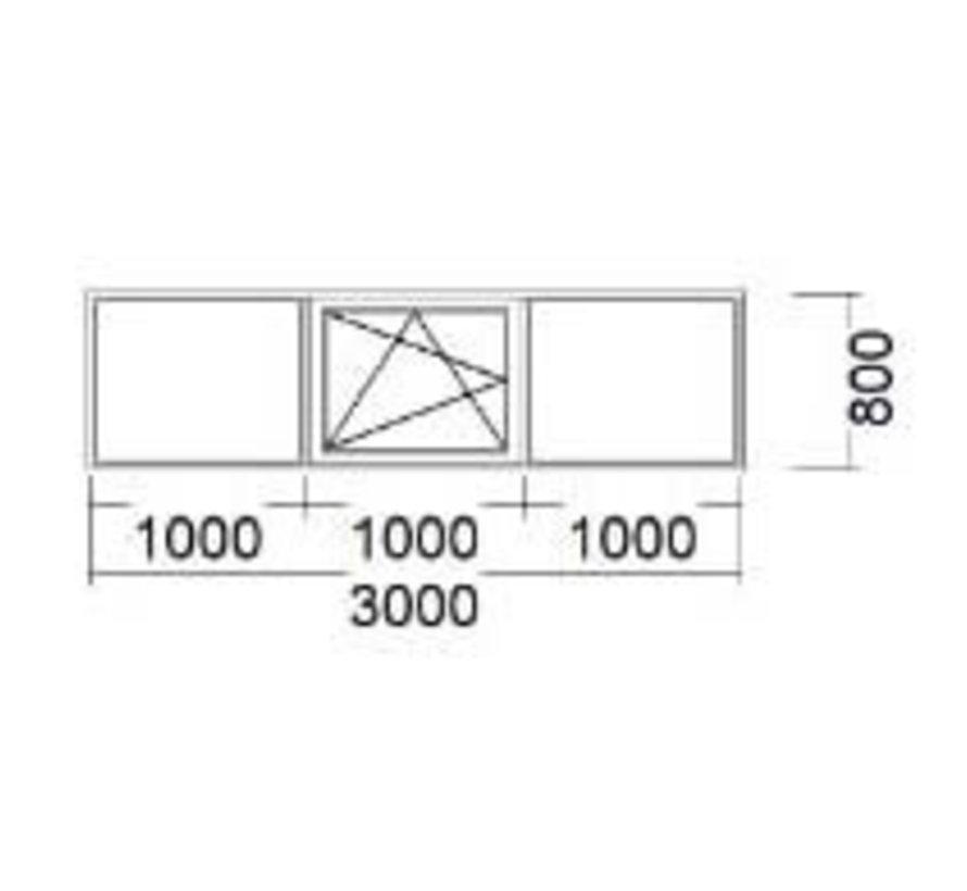 Dakkapel kozijn 300x80