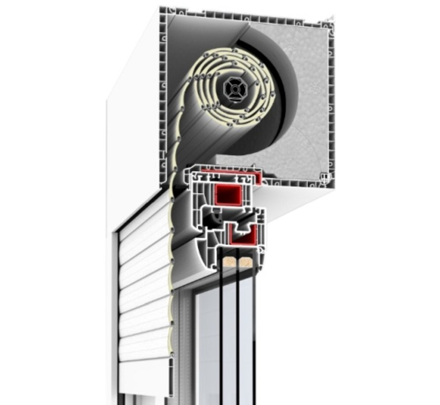 Drutex bovenrolluik RN: 215 mm en 225 mm