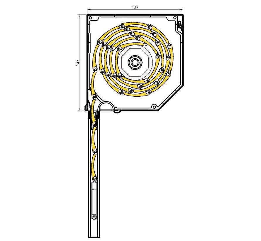 Drutex voorgemonteerd rolluik 45 graden SK