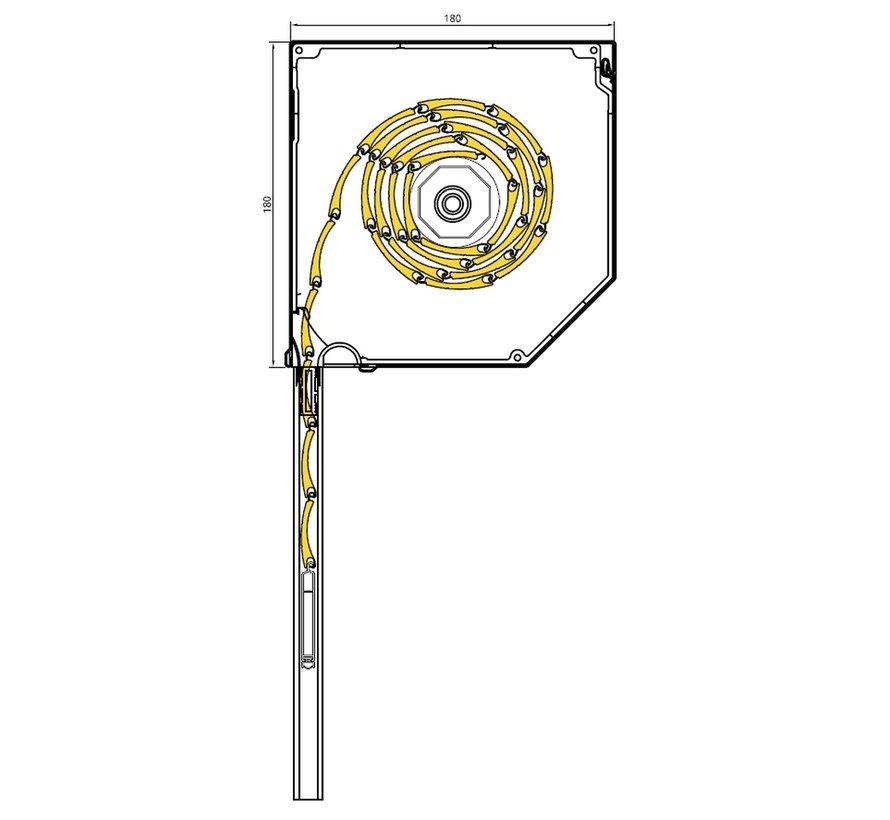 Drutex voor-gemonteerd rolluik 45 graden SK