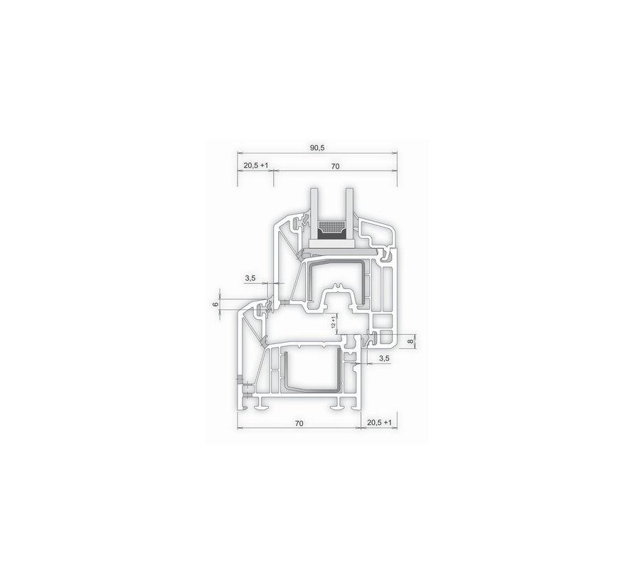 Dakkapel-kozijn 400x80 Intrek