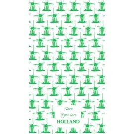 Toweltje molen groen