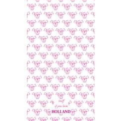 pink tulips tea towel