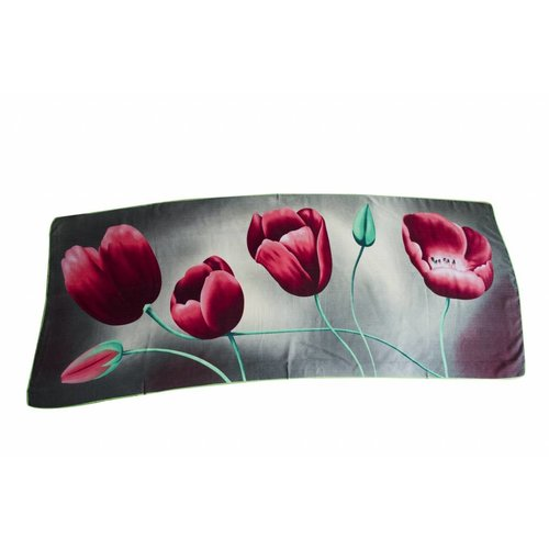 Irene Tulip scarfs Tulpensjaal Grijs TGR819