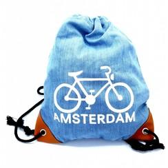 Amstel Bag light blue bike