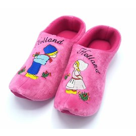 Holland Slippers Kussend paartje roze