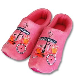 Holland Slippers Amsterdam bike pink