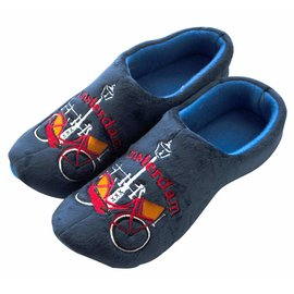 Holland Slippers Fiets Amsterdam blauw