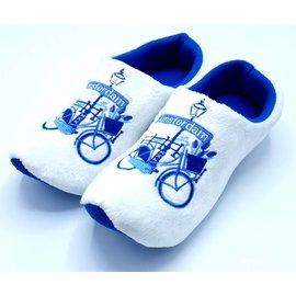 Holland Slippers Fiets Amsterdam Delftblue