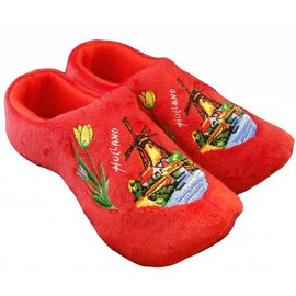 Holland Slippers Windmolen Rood