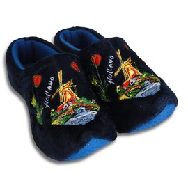 Holland Slippers Windmolen Blauw
