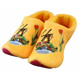 Holland Slippers Windmolen Geel