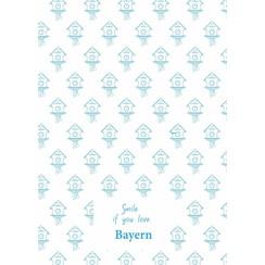 Bayern teatowel blue